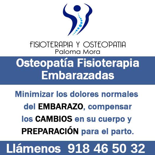 Fisioterapia y osteopatía embarazo en Colmenar Viejo